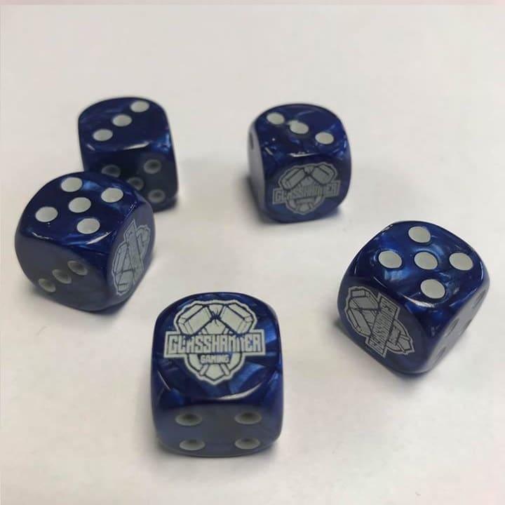 Glasshammer Gaming Dice - Blue Image