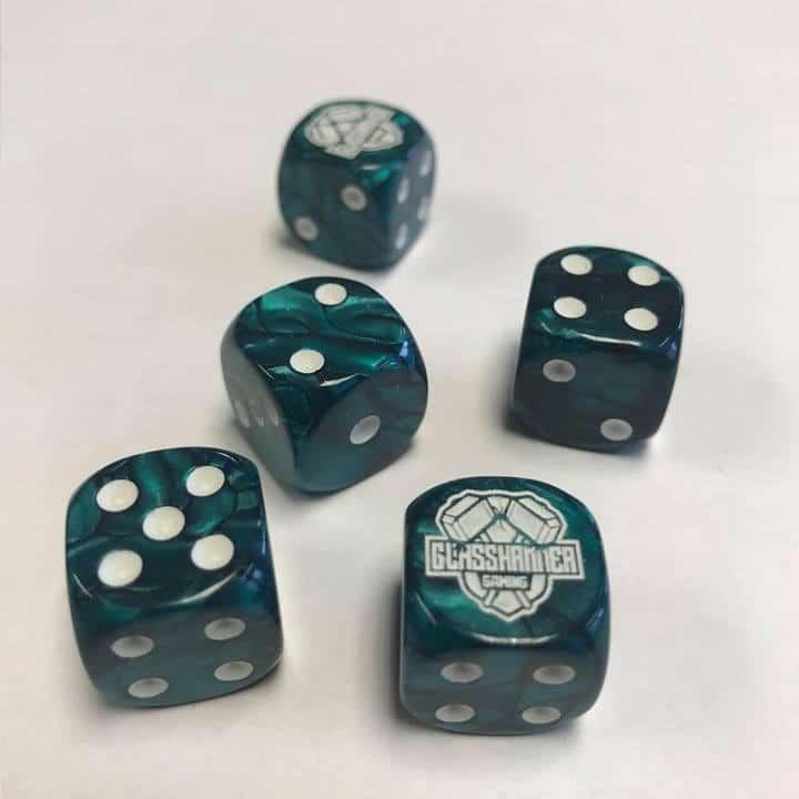 Glasshammer Gaming Dice - Green Image