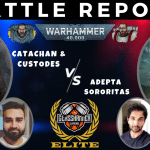 Competitive 9th Ed Battle Report – Catachans & Custodes vs Adepta Sororitas – Tactical Talkover - Warhammer 40k