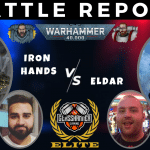 Competitive 9th Ed Battle Report – Craftworlds vs Iron Hands – Tactical Talkover - Warhammer 40k